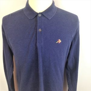 Orvis Mens Blue Fly Lure Embroidered Shirt Medium